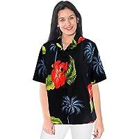 collare beachwear button down serbatoio coprire camicia hawaiana maniche corte signore camicetta