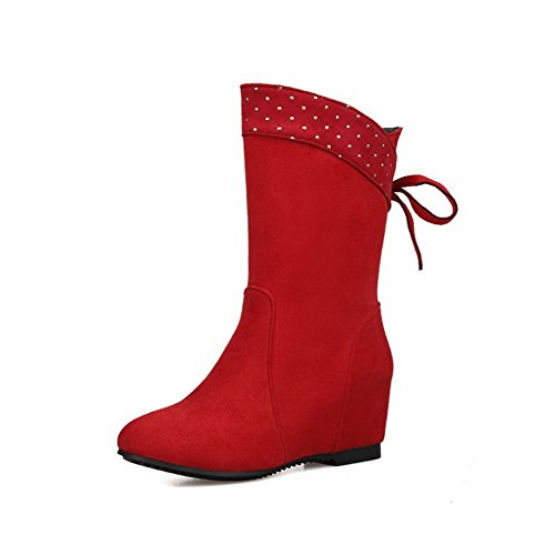 agoolar-womens-frosted-pull-on-round-closed-toe-kitten-heels-low-top-boots-red-32