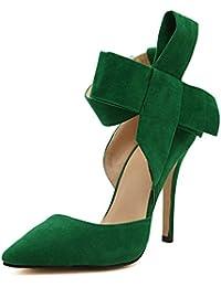 Sandalias Novia Agua Zapatos zapato Verde Y En De Terciopelo Verdes 3TFJl1cuK