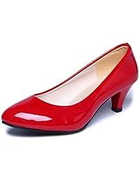 Zapatos interiores, Amlaiworld Zapatos de tacón bajo de oficina