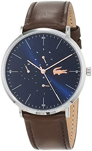 Lacoste Herren Multi Zifferblatt Quarz Uhr mit Leder Armband 2010976