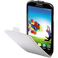 Hama Flip Case (geeignet für Samsung Galaxy S4 Tasche, maßgefertigte Schutzhülle mit Magnetverschluss) weiß