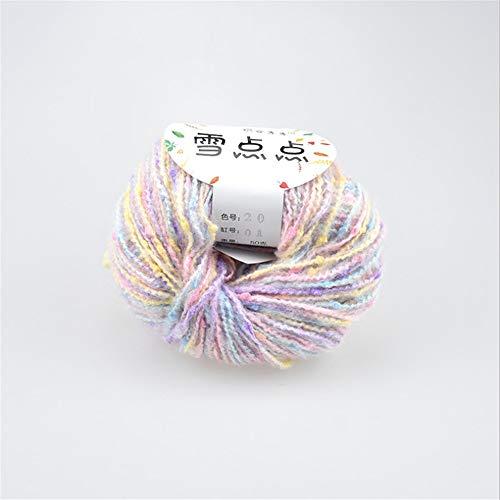 Handstrickgarn Colorful Point Design Pack von 12 x 50g Garnrollen Set sortierte Farbe stricken häkeln für Kinder Mädchen Schal Hut Handschuhe Pullover Für Mütze Pullover Schal ( Farbe : Rainbow )
