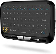 KKmoon H18 2.4GHz Wireless Keyboard Full Touchpad Remote Control Keyboard Mouse Mode with Large Touch Pad Vibr