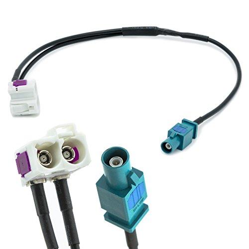 Adapter-Universe FAKRA Doppel Buchse (Z) auf Einzel Stecker Auto Antennen Verteiler Adapter für Universal - Doppel-antennen-adapter