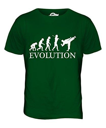 CandyMix Jujutsu Evoluzione Umana T-Shirt da Uomo Maglietta Verde bottiglia