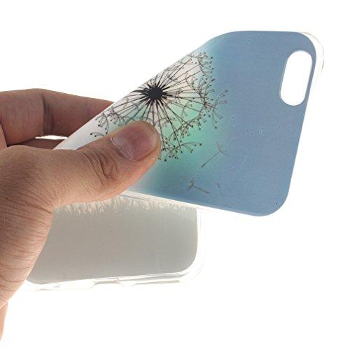 XiaoXiMi Coque iPhone 6/6S Etui en Silicone Caoutchouc Gel pour iPhone 6/6S Soft TPU Case Cover Bumper Housse Souple de Protection Coque Mince Léger Etui Flexible Lisse Couverture Anti Rayure Anti Cho Pissenlit de la Liberté