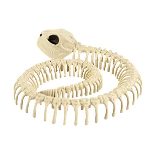 BESTOYARD Tier Skelett Knochen Halloween Skelett Dekorationen Schlange (Skelett Knochen Halloween)