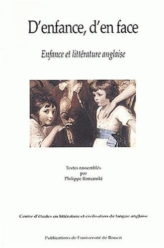 D'enfance, d'en face. Enfance et littérature anglaise