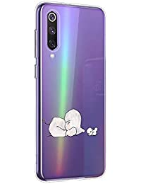 Oihxse Animal Serie Case Compatible con Huawei Honor 8 Lite Funda Transparente Suave Silicona Elefante Conejo Patrón Protector Carcasa Ultra-Delgado Creativa Anti-Choque Cover (A9)