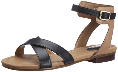 Clarks Viveca Zeal, Damen Knöchelriemchen Sandalen, Schwarz (Black Leather), 42 EU (8 Damen UK)