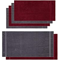 Lumaland Premium Set 4 Toallas (50 x 100) cm + 2 Toallas de baño