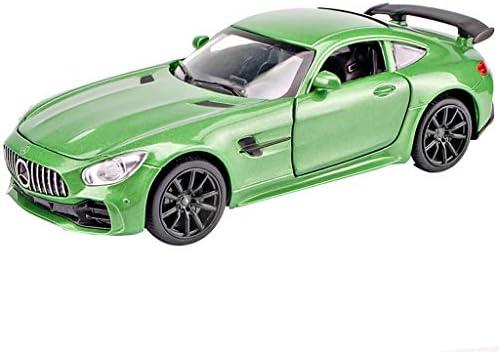 SXET-Modèle de voiture Voiture miniature Mercedes Mercedes Mercedes - Mercedes - Mercedes AMG voiture de sport GTR alliage modèle enfant cadeau voiture jouet vert 479653