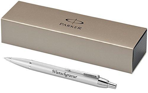 Esclusivo PARKER Penna a sfera Modello IM argento incl. incisione Incisione a laser incisione (Personalizzato Incisione Laser)