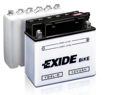 Exide Bike Motorrad ATV Quads Garten Traktoren Batterie 6N4B-2A - 6V - 4Ah - 35A EN Kaltstart - 004 12 DIN - 98mm x 45mm x 95mm - M00 Pol inkl Kabel