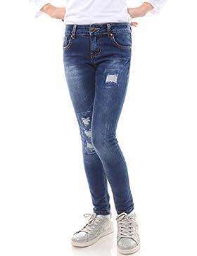 Mädchen Jeans Kinder Hose Stretch Hüfthose Jeanshose Röhrenjeans Jeanshose