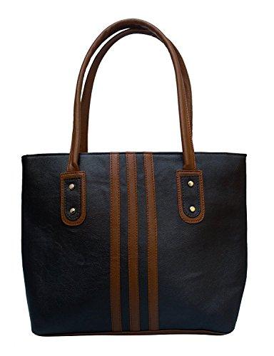 TipTop Women's Satin Black Handbag