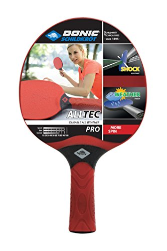 Galleria fotografica Donic-Schildkröt Alltec PRO Racchetta Tennis Tavolo di Plastico Resistente, Rosso