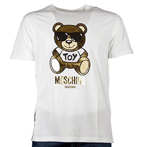 Moschino, t-shirt da uomo, bianca - m