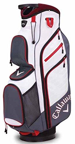 Calaway Chev Organizer Tasche für Golf-Trolley, Unisex Erwachsene Einheitsgröße grau/weiß/rot