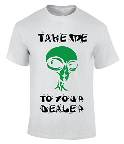 take me to your dealer T-Shirt Bianco