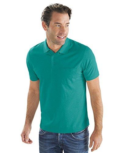 Ragman Herren Kurzarm Softknit Poloshirt Smaragd