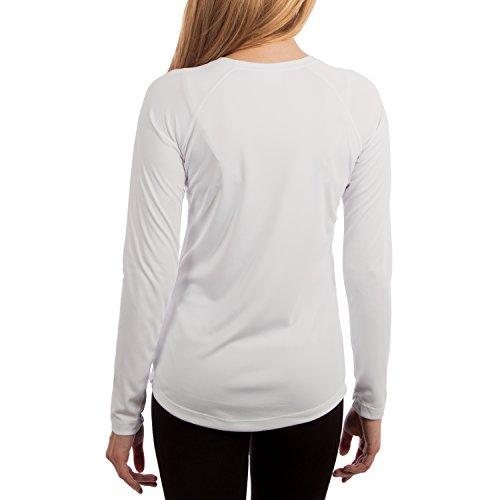 Vapor Apparel Damen UPF 50+ UV Sonnenschutz Langarm Performance T-Shirt Weiß