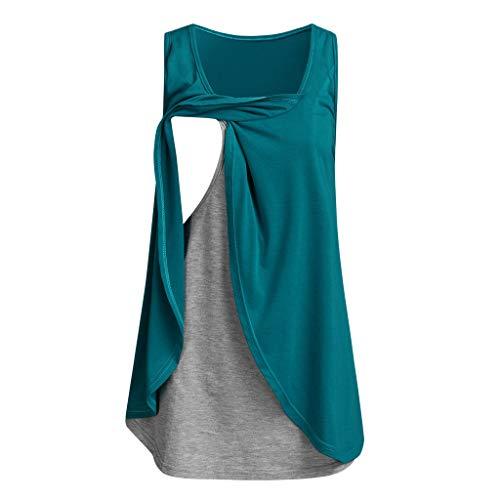 Umstandsmode Damen Kurzarm O-Ausschnitt Shirt mit Muster Süße Bedruckte Umstandsshirt Bluse T-Shirt Oberteil Vier Farben Größe S-5XL Umstandsmode 2 in 1 Stillshirt & Umstandsshirt/Stilltop/Umstandstop (Süße Bh Für Teenager-mädchen)