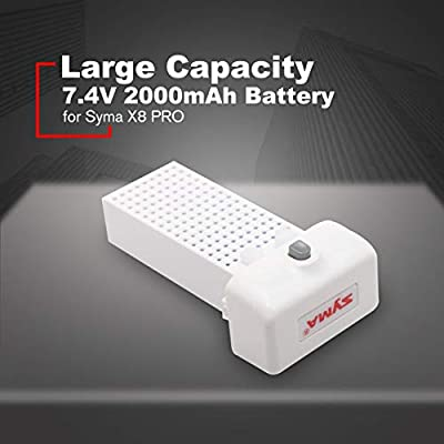 Large Capacity RC Drone RC Quadcopter 7.4V 2000mAh Battery Ultra-high Capacity Lipo for Syma X8 PRO Battery Spare Parts