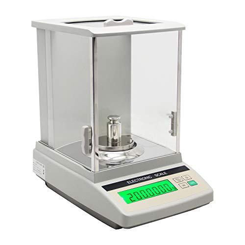 Hanchen Analytical Balance 120gx0,1mg 0,0001g Hochpräzise Analysenwaage Digital Balance Skala für Labor Apotheke Juwelier Chemiefabrik Schule Manuelle Kalibrierung 220V - Glas-digital-skala