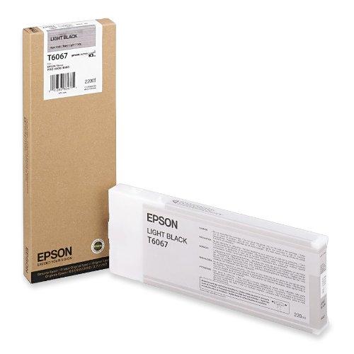 Epson T6067 Cartouche d'encre d'origine 1 x noir clair