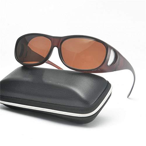 SYQA High-End-Set polarisierte Brille Vision Sonnenbrille Männer Myopie Spiegel Sonnenbrille über Wrap Arounds Eyewear mit Box,C3