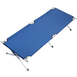 41WXQOW5 PL. SS300  - Skandika Camping Bed XXL Comfortable Camping Lounger 210 x 80 cm
