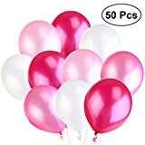 NUOLUX Palloncini,Palloncini in lattice, per festa matrimonio,alta qualita', 4 colori, 50 pcs