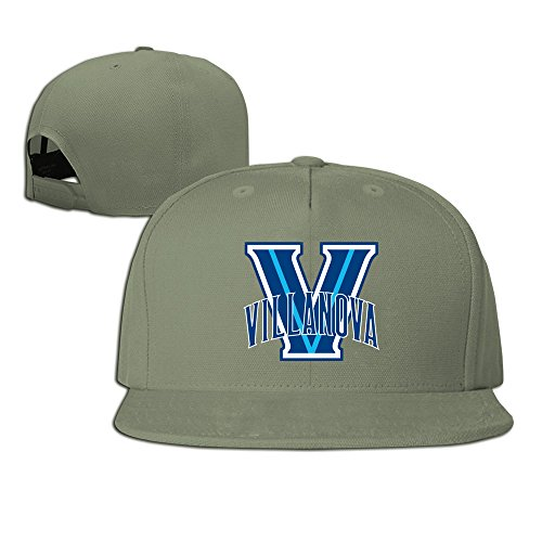 (hmkolo Villanova Wildcats Baumwolle Flat Bill Baseball Snapback Cap Hat Unisex, unisex, ForestGreen)