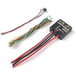 iUcar Controlador de Vuelo INAV F4 con OSD Buzzer BEC para RC Airplane Standard Version-Black