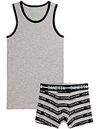 Sanetta - Juego de ropa interior para niño (2 piezas), color gris