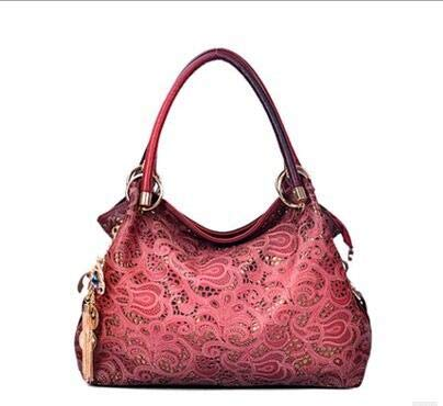 MYMAO Hollow Lady Bag Crossbody Bag PU Leder Shoulder Bag Mode Handtaschen Dumplings ()