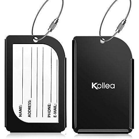 Kollea-Etichetta per bagagli, confezione da 2, in