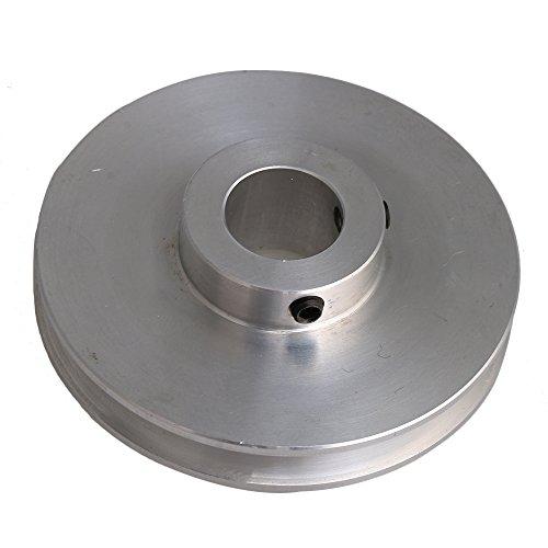 Yibuy 58x 14mm Silber-Legierung Einzel Groove Bohrung 14mm Schritt Pulley für Runde Gürtel