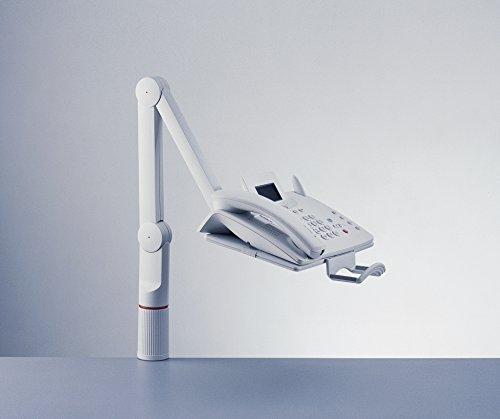 Novus TalkMaster Telefonschwenkarm (mit Telefonablage und 2-gelenkigem Schwenkarm) lichtgrau - 3