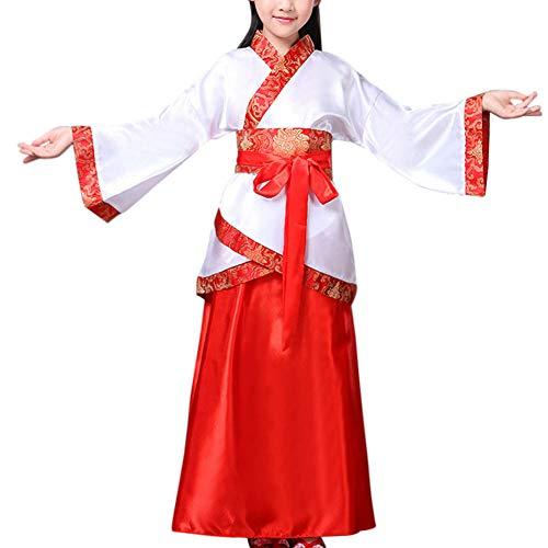 Chinesischen Kostüm Kinder Nationalen - Gtagain Historisch Traditionell National Kostüm - Unisex Kinder Chinesisch Stil Hanfu Bühne Show Cosplay Tanz Vorstellungen Retro Verrücktes Kleid