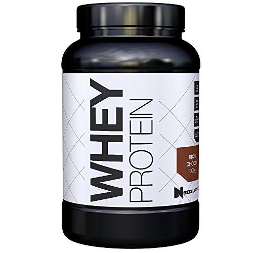 Premium Whey Protein für Muskelaufbau & Abnehmen in leckeren Geschmäckern | Low Carb Eiweiß-Shake, Eiweiß-Pulver mit Aminosäuren (BCAA) | 1kg NeoSupps Protein Pulver - Schokolade / Schoko - Whey Protein Booster Schokolade