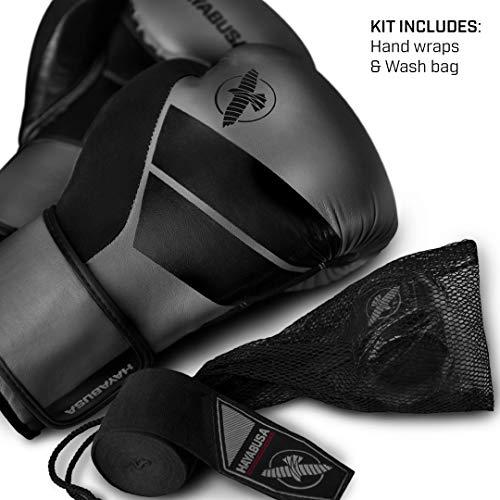 Hayabusa S4 10oz 12oz 14oz 16oz Boxhandschuhe Taschen-Handschuhe Padhandschuhe Trainingshandschuhe Für Herren, Damen und Kinder M Schwarz (Tasche Boxhandschuhe Für)