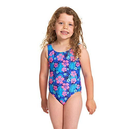 Zoggs Mädchen Kona Scoopback Badeanzug, Mehrfarbig, 4 Jahre