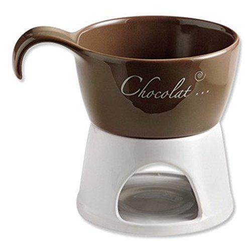 Chocolate Fondue Juego 4piezas Fondue Fondue marrón blanco