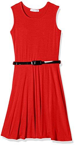 jolly-rascals-girls-plain-skater-dress-red-7-8-years