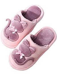 Unisex-Niños Zapatillas De Estar por Casa para Niñas Niños Invierno Pantuflas Interior