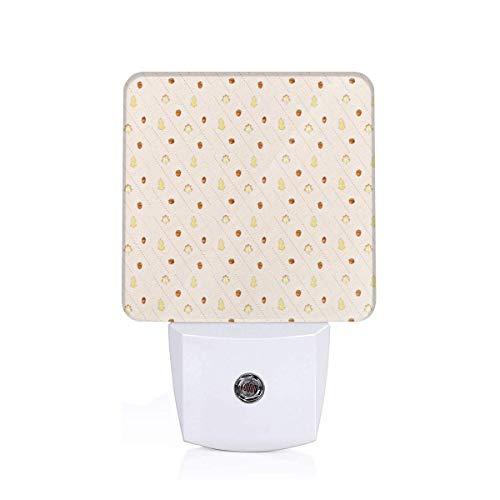 Led Night Light Autumn Argyle Cream Auto Senor Dusk to Dawn Night Light Plug in for Baby, Kids, Children's Room Argyle-cover