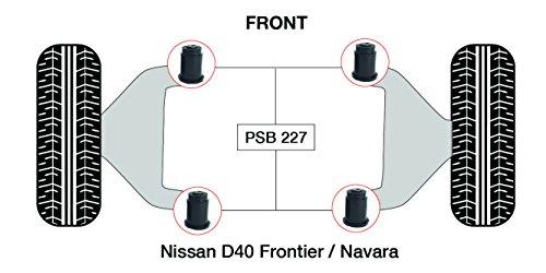 PSB polyuréthane Bush D40 Frontier inférieur avant bras bushing kit (2005-2014) - PSB 227